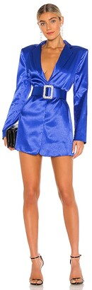 Bronx and Banco Carmen Indgo Blazer Dress