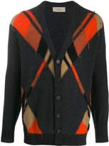 Maison Flaneur Argyle pattern cardigan
