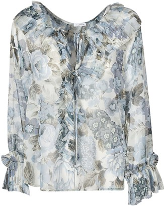 P.A.R.O.S.H. Floral Print Long-sleeved Blouse