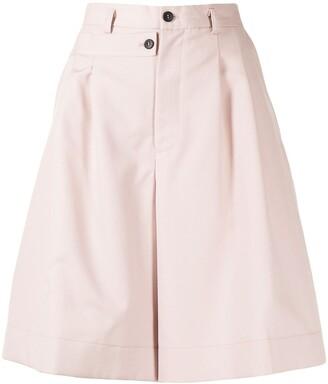 Delada Double-Waistband Wool-Blend Shorts
