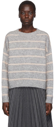 Acne Studios Grey Striped Mohair Sweater