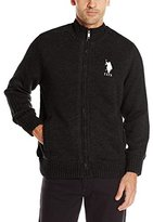 U.S. Polo Assn. Men's Microsherpa Lined Full Zip Sweater