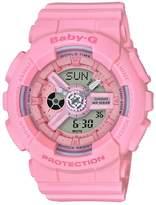 Baby-G Casio Baby G Casio Baby G Pink Resin Strap Ladies Watch