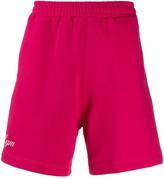 MSGM logo-print relaxed shorts