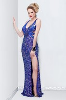 Primavera Couture - 9811 Sequined V-Neck Evening Dress