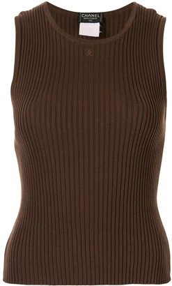 Chanel Pre-Owned 1998 sleeveless knit top