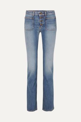 Saint Laurent Low-rise Flared Jeans - Indigo