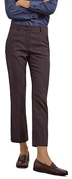 Gerard Darel Lillia Checkered Straight Leg Pants