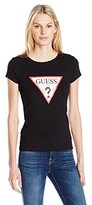 GUESS Women's Short Sleeve Printed Triangle Tee Shirt