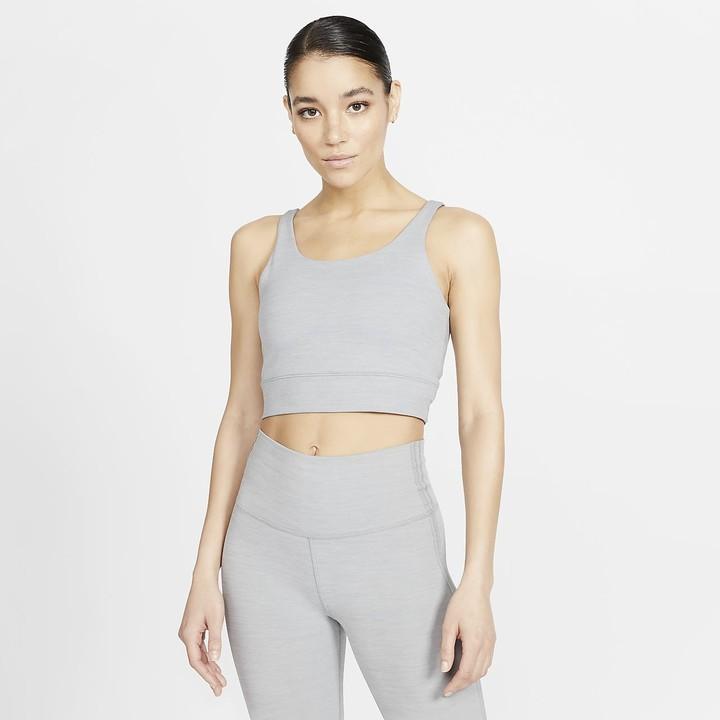 Nike Women S Infinalon Metallic Tank Yoga Luxe Shopstyle Sport Tops