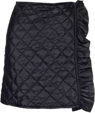 Moncler Quilted Ruffle Detail Mini SKirt