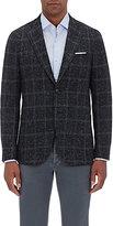 Isaia Men's Cortina Flecked Plaid Sportcoat-BLACK