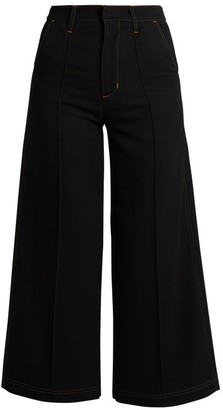Wales Bonner Reed High-rise Wool Culottes - Womens - Black