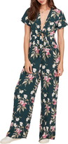 Volcom Haute Tropic Floral Plunge Jumpsuit
