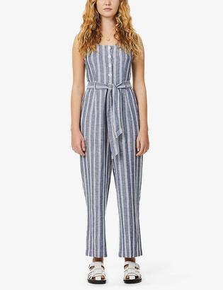 Rails Harper stripe-print sleeveless woven jumpsuit