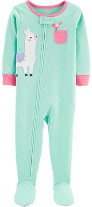 Carter's Toddler Girls Llama Footed Pajamas