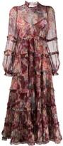 Zimmermann floral-print maxi tiered dress