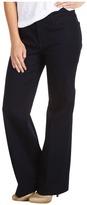 NYDJ Petite - Petite Greta Trouser with a Flare Leg in Denim (Dark Enzyme Wash) - Apparel