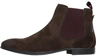 Ben Sherman Lombard Suede Chelsea Boots Waxy Brown