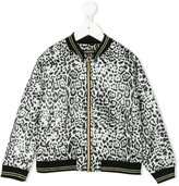 Roberto Cavalli leopard print bomber jacket - kids - Polyester/polyester-8 - 3 yrs
