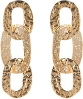 Oscar de la Renta Hammered Chain Link Earrings