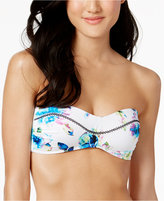 Bar III Pretty Petals Printed Bandeau Bikini Top, Only at Macy's