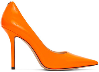 Jimmy Choo Orange Patent Love 100 Heels