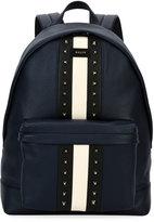 Bally Hingis Studded Leather Backpack, Blue