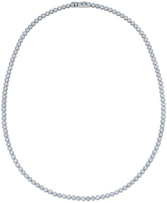 De Beers 18kt white gold Diamond Line bezel-set necklace