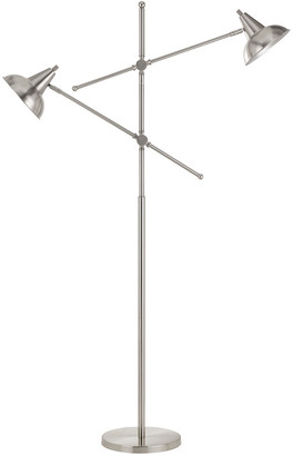 Cal Lighting Calighting Metal Dual Light Adjustable Floor Lamp
