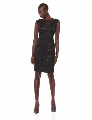 Vince Camuto Women's Lace Cocktail Dress with Short Sleeves