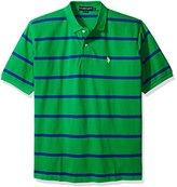 U.S. Polo Assn. Men's Short Sleeve Striped Pique Polo Shirt