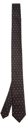 Dolce & Gabbana Polka-dot Jacquard Silk-faille Tie - Mens - Black