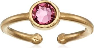 Alex and Ani Women's Swarovski Color Code Adjustable Ring October Rose