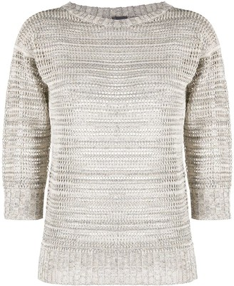 Lorena Antoniazzi 3/4 Sleeves Crew-Neck Jumper