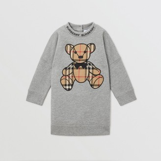 Burberry Childrens Thomas Bear Applique Cotton Sweater Dress