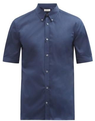 Alexander McQueen Brad Pitt Short-sleeve Poplin Shirt - Navy