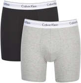 Calvin Klein 2 Pack Boxer Briefs Black/grey Heather