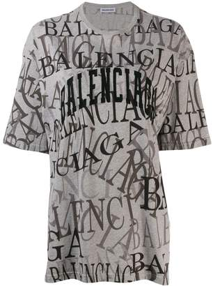 Balenciaga all over logo T-shirt