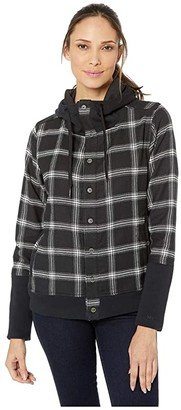 Marmot Stowe Heavyweight Flannel Long Sleeve Shirt (Black) Women's Clothing