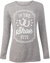 Athletic Heather 'If the Shoe Fits' Horseshoe Long-Sleeve Tee