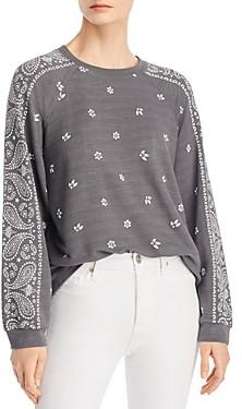 Monrow Bandana Print Sweatshirt