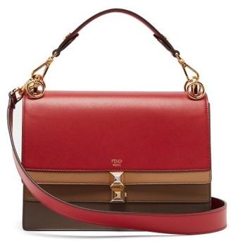 Fendi Kan I Leather Shoulder Bag - Womens - Red Multi