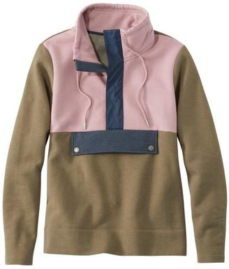 L.L. Bean Women's Signature Organic Sweatshirt, Anorak Colorblock