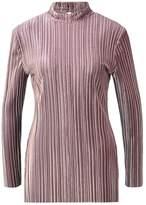 Glamorous Long sleeved top mauve pleated velvet