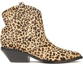 Sigerson Morrison Tacy Leopard-print Calf Hair Ankle Boots