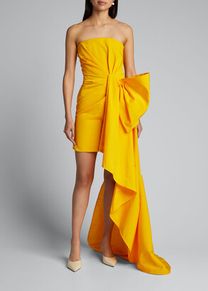 Carolina Herrera Faille Cocktail Dress