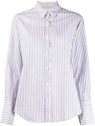 Nili Lotan Striped-Print Long-Sleeved Shirt