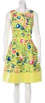 Oscar de la Renta Spring 2015 Embroidered Dress