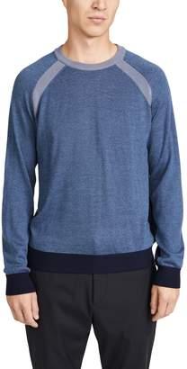 Club Monaco Partial Block Raglan Sweater